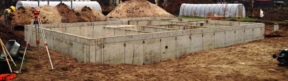 Reinforced concrete foundation design and construction